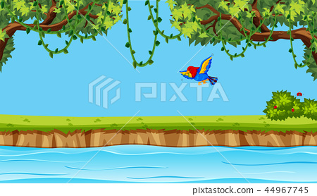 Bird flying on nature background 44967745