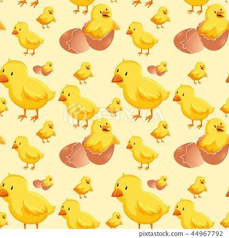 Chick hatching egg seamless 44967792