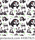 vector, panda, seamless 44967825