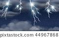 下雨 雨 闪电般的 44967868
