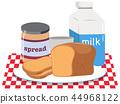 breakfast, set, vector 44968122
