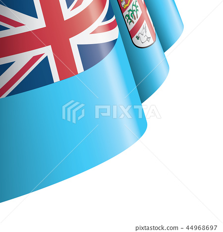 Fiji flag, vector illustration on a white background 44968697