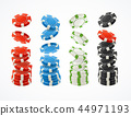 Realistic Detailed 3d Poker Chips Stack Set. Vector 44971193