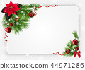 Christmas Festive Background with Decorations 44971286