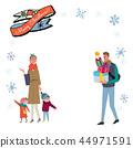 圣诞节家庭例证框架 44971591