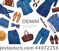 Denim Clothing Frame Background 44972256