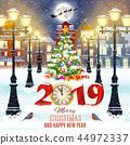 Christmas winter city street 44972337