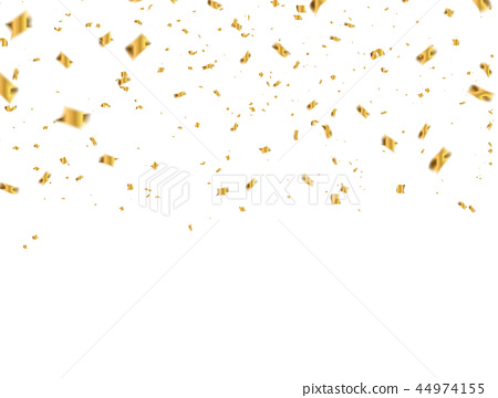 Celebration background template with confetti and  44974155