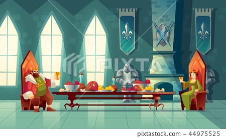 feast concept, king, queen eats food 44975525