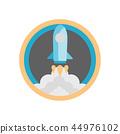 vector illustration rocket 44976102