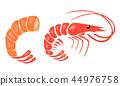 小虾 矢量 矢量图 44976758