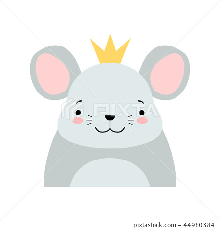 Funny Grey Mouse In Golden Crown Cute Cartoon Stock Illustration 44980384 Pixta Here you can explore hq cartoon crown transparent illustrations, icons and clipart with filter setting like size, type, color etc. pixta