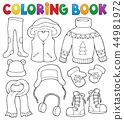 Coloring book winter clothes topic set 2 44981972