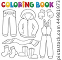 Coloring book winter clothes topic set 1 44981973