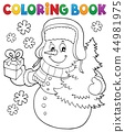 Coloring book snowman topic 6 44981975