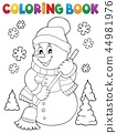 Coloring book snowman topic 5 44981976