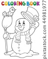 Coloring book snowman topic 4 44981977