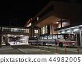 밤의 아키타 공항과 셔틀 44982005