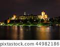Wawel Castle in the evening in Krakow  44982186