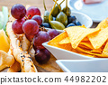 A plate of delicious tortilla nachos with grapes 44982202