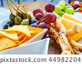 A plate of delicious tortilla nachos with grapes 44982204