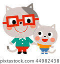 Cat's parent and child 44982438