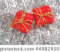 Two red Christmas gift boxes 44982930
