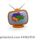 Retro television with the words News 44982958