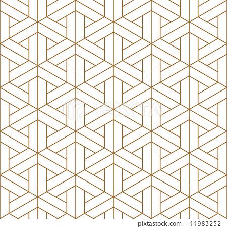 Seamless japanese pattern shoji kumiko in golden. 44983252