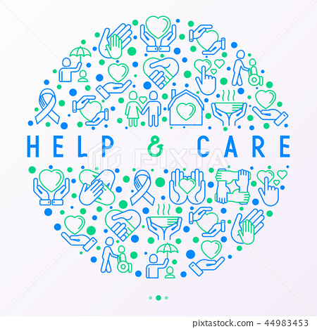 Help and care concept in circle 44983453