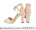 Nude look high-heeled sandals 44983631