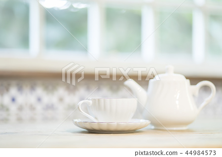 Tea set background material 44984573