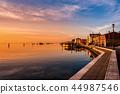 Romantic sunset on the Venice lagoon. 44987546