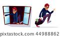 cartoon robber, thief characters set 44988862