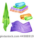 realistic bathroom, spa colored towel set. 44988919