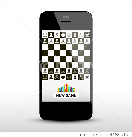 Chess Game App on Mobile Phone 44989207