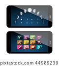 Moon Phases Symbols. Mobile Phone App 44989239