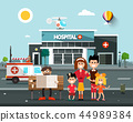 Happy Family In front of Hospital Building 44989384