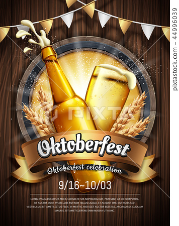 Attractive oktoberfest celebration 44996039