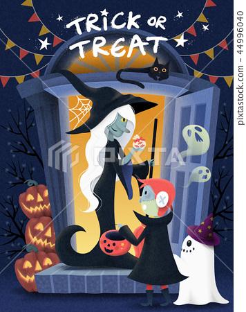 Halloween poster design 44996040