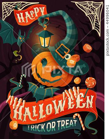 Halloween poster design 44996041