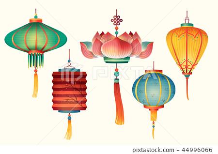 Hand drawn lanterns design 44996066