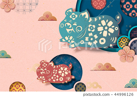 Chinese new year style background 44996126