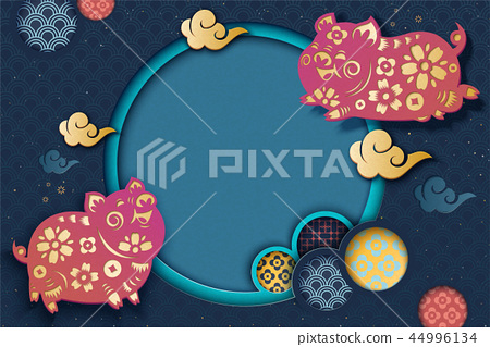 Chinese new year style background 44996134