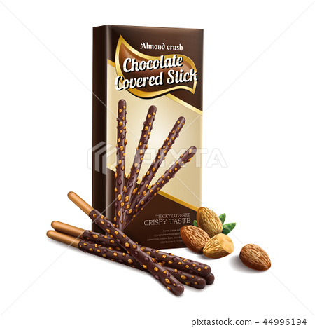 Chocolate covered stick element 44996194