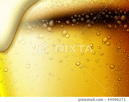 Refreshing fizzy beer background 44996271