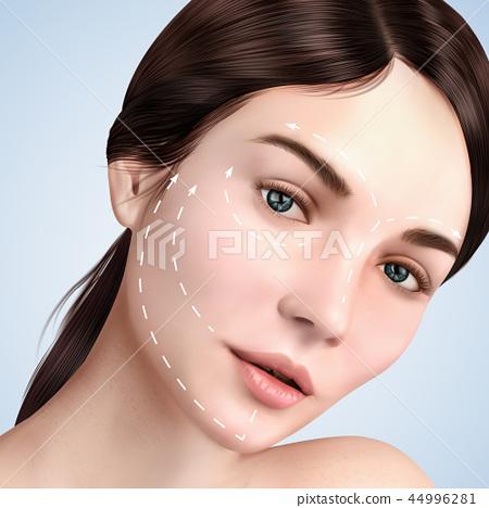 Closeup look at beautiful model 44996281
