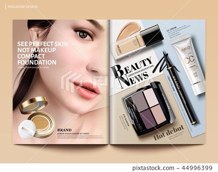 Beauty magazine design 44996399