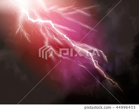 Red lightning background 44996433