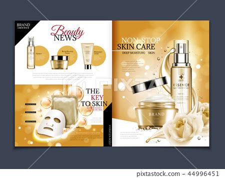 Cosmetic magazine template 44996451